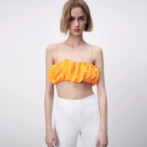 Vest sling Spring 2021 orange XS,S,M,L singleton  have cash less than that is registered in the accounts street camisole