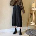 Women's large Spring 2020 black [160-140] kg [l-120-140], xl-180 [l-120-140], xl-180 [l-120-140], xl-180 [l-120-140], xl-180 [l-120-140], xl-180 [l-120-140], xl-180 [l-120-140], xl-180 [l-120-140], xl-180 [l-120-140], xl-180 [ skirt singleton  commute easy moderate Solid color Korean version Denim