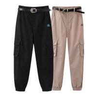 Casual pants Black, khaki S,M,L,XL Summer 2021 trousers Overalls Natural waist commute routine 51% (inclusive) - 70% (inclusive) A6GBB2111 Peacebird cotton Korean version pocket cotton Asymmetry