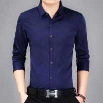 shirt Business gentleman Others Thin money square neck Long sleeves easy daily spring middle age Business Casual 2020 other