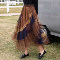 skirt Spring 2021 S,M,L,XL,XXL Mid length dress grace High waist Pleated skirt other Type A 25-29 years old