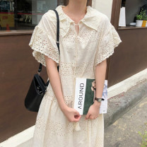 Dress Summer 2021 Graph color Average size longuette singleton  Short sleeve commute Flying sleeve Others 18-24 years old Other / other Korean version