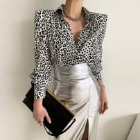 Fashion suit Spring 2021 Average size Leopard shirt, leather skirt s, Leather Skirt M Other / other 31% (inclusive) - 50% (inclusive)