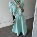 Fashion suit Summer 2021 M, L Lake green top, lake green skirt, pink top, pink skirt 18-25 years old Other / other
