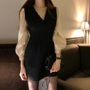 Fashion suit Winter of 2018 Average size White shirt, apricot shirt, beige dress s, beige dress m, black dress s, black dress M 18-25 years old