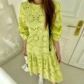 Dress Summer 2021 Malachite blue, mustard yellow Average size Long sleeves commute Crew neck puff sleeve 18-24 years old Other / other Korean version 51% (inclusive) - 70% (inclusive)