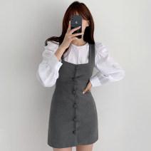 Fashion suit Autumn 2020 Average size White shirt, green shirt, grey dress s, grey dress m, black dress s, black dress M 18-25 years old