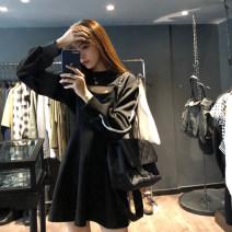 Fashion suit Winter 2020 Average size Black blouse, black suspender skirt
