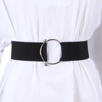 Belt / belt / chain other Camel, white, black silver button, black silver button, large, Beixing female Waistband Versatile Single loop Youth, youth, middle age a hook Round buckle Glossy surface 5cm alloy Naked, elastic Other / other bl19063001