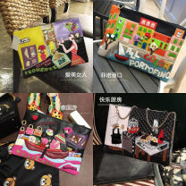 Bag Inclined shoulder bag PU Envelope bag Other / other brand new Cartoon Small leisure time soft zipper no Cartoon animation Single root One shoulder handle with crossbar nothing youth Envelope shape flower Soft handle polyester fiber Card, zipper bag, cell phone bag soft surface