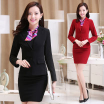 Professional dress suit S,M,L,XL,XXL,4XL,XXXL,5XL Autumn of 2019 Long sleeves loose coat Suit skirt 18-25 years old Fanyixiangshe
