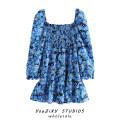 Dress Summer 2020 Decor S,M,L Short skirt singleton  Long sleeves street square neck Decor Socket other Europe and America