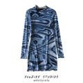 Dress Autumn 2020 Decor S,M,L Short skirt singleton  Long sleeves street Decor Socket other Splicing Europe and America