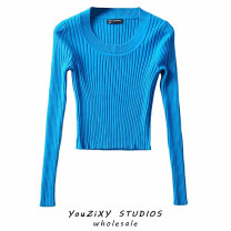 Wool knitwear Spring 2021 S, M Long sleeves singleton  Socket other 51% (inclusive) - 70% (inclusive) Regular routine street Self cultivation Low crew neck routine Solid color Socket thread Europe and America