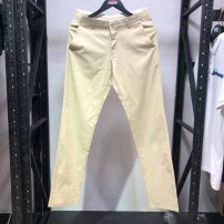 Casual pants Modillo Youth fashion khaki About 165-xs 2.1-2.2 feet, 170-s 2.3-2.4 feet, 175-m 2.5-2.6 feet, 180-l 2.7 feet, 185-xl 2.8 feet, 190-xxl 2.95 feet, 195-3xl3.1 feet thin trousers Other leisure Straight cylinder summer youth middle-waisted Hemp cotton
