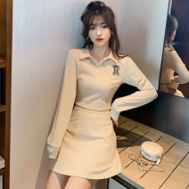 Fashion suit Autumn 2020 S,M,L,XL Apricot 25-35 years old Other / other C1168 71% (inclusive) - 80% (inclusive) polyester fiber