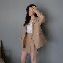 Fashion suit Autumn 2020 S,M,L,XL Beige TZ140 51% (inclusive) - 70% (inclusive) cotton
