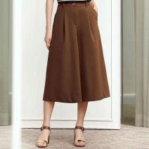 Casual pants Black, Caramel 1 = XS, 2 = s, 3 = m, 4 = L, 5 = XL Spring 2021 Cropped Trousers Wide leg pants Natural waist Versatile routine 81% (inclusive) - 90% (inclusive) Novel goldette nylon nylon