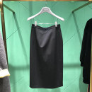 skirt Spring 2021 1 = XS, 2 = s, 3 = m, 4 = L, 5 = XL black Middle-skirt Versatile Natural waist skirt Solid color Type H 51% (inclusive) - 70% (inclusive) other Novel goldette nylon