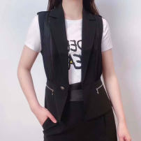 Vest Summer 2021 black 2 = s, 3 = m, 4 = L, 5 = XL routine other Versatile Solid color A button other Pinge Dixin 31% (inclusive) - 50% (inclusive) other