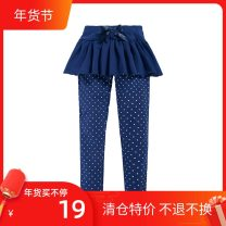 trousers Cubs & kids / Kaka and Kiki female 90cm 2T (1-2 years old recommended), 95cm 3T (2-3 years old recommended), 100cm 4T (3-4 years old recommended), 110cm 5T (4-5 years old recommended), 120cm 6T (5-6 years old recommended) Dark blue, red spring and autumn trousers princess Leggings B3402