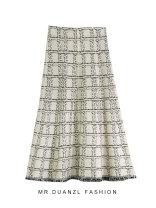 skirt Autumn 2020 90-115 Jin Black, apricot Mid length dress grace High waist A-line skirt other Type A 18-24 years old knitting