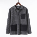 T-shirt / sweater Others Youth fashion M,L,XL,2XL,3XL routine Cardigan Lapel Long sleeves autumn easy leisure time tide youth routine stripe Color matching