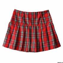 skirt Autumn 2020 S,M,L Light blue, dark blue, red Short skirt High waist lattice