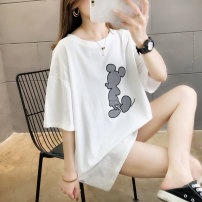 Sports T-shirt Other / other M,L,XL,2XL Short sleeve female Crew neck White, red, yellow, grayish blue easy Moisture absorption and perspiration, anti ultraviolet, quick drying, ultra light, breathable Summer 2021 cotton