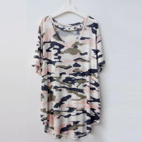 T-shirt camouflage XS,S,M,L,XL,2XL,3XL,4XL,5XL,6XL Summer 2020 Short sleeve V-neck easy Medium length routine street other 51% (inclusive) - 70% (inclusive) 25-29 years old other A4852 Europe and America