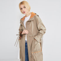 Windbreaker Autumn of 2018 Average size Bean green, Tibetan blue Long sleeves routine have more cash than can be accounted for zipper other High waist type SASAEC DA91057 25-29 years old zipper polyester fiber