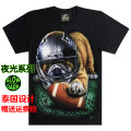 T-shirt Youth fashion A-0385 Rugby dog routine S,M,L,XL Rock paradise Short sleeve Crew neck easy daily summer A-0385 Cotton 100% teenagers routine tide Cotton wool 2019 Animal design printing cotton Animal design No iron treatment Fashion brand More than 95%