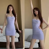 Dress Spring 2021 violet S,M,L,XL singleton  Sleeveless commute other High waist other camisole More than 95% other other