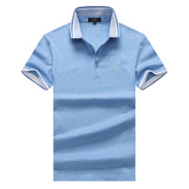T-shirt Fashion City Red, lake blue, blue thin M/170,L/175,XL/180,XXL/185,XXXL/188 Others Short sleeve Lapel standard Other leisure summer Cotton 95% modal fiber (modal) 5% youth routine British College Woven cloth 2021 Solid color Embroidered logo cotton other No iron treatment More than 95%