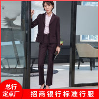 Suit pants / suit pants XS,S,M,L,XL,2XL,3XL,4XL Winter 2020 Self cultivation middle-waisted trousers routine Self made pictures 31% (inclusive) - 50% (inclusive) lady zipper Viscose Imitation fabric OL