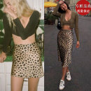 skirt Spring 2021 XS,S,M,L Leopard [short], leopard [long] Short skirt street High waist A-line skirt Leopard Print Type A 18-24 years old More than 95% other Europe and America