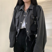 short coat Autumn 2020 S,M,L,XL Gray, white, random gift Long sleeves have cash less than that is registered in the accounts routine singleton  Straight cylinder commute routine Single breasted Solid color 18-24 years old Other / other 81% (inclusive) - 90% (inclusive)