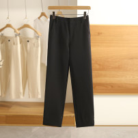 Casual pants Black, pearl white S,M,L,XL,XXL Spring 2021 trousers routine 91% (inclusive) - 95% (inclusive) Other / other polyester fiber
