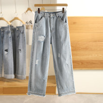 Jeans Summer 2021 trousers routine A4HA92274 Other / other 96% and above S,M,L,XL Denim blue, beige