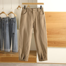 Casual pants Khaki, fruit green S,M,L,XL Spring 2021 trousers routine 96% and above 20C2K272 Other / other cotton