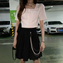 Fashion suit Summer 2021 S,M,L White top, pleated skirt (with waist chain) 18-25 years old 31% (inclusive) - 50% (inclusive)