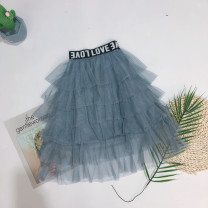 skirt The recommended height is about 100cm for size 5, 110cm for size 7, 120cm for size 9, 130cm for size 11 and 140cm for size 13 Black, grayish blue Baby, ring female Other 100% No season skirt Korean version Solid color Pleats NH3882 Class B