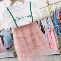 skirt The recommended height is about 100cm for size 5, 110cm for size 7, 120cm for size 9, 130cm for size 11 and 140cm for size 13 Pink Baby, ring female Other 100% No season skirt Korean version Solid color Pleats NH3882 Class B