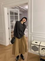 skirt Winter 2020 XS,S,M,L Black, khaki, beige Mid length dress street Natural waist Type A ON096542 More than 95% MONARTW cotton Europe and America