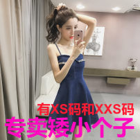 Dress Summer 2020 navy blue Xs, one size, XXS for height 140-160 Middle-skirt singleton  Sleeveless commute other other Socket other other camisole 18-24 years old Zhenyaluo Korean version More than 95% other other