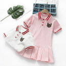 Dress Pink, white female Yu Shengli 100cm,110cm,120cm,130cm,140cm,150cm Other 100% summer Korean version Short sleeve Cartoon animation cotton A-line skirt Class B 12 months, 18 months, 2 years old, 3 years old, 4 years old, 5 years old, 6 years old Chinese Mainland Guangdong Province
