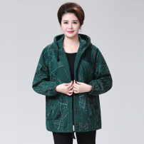 Middle aged and old women's wear Spring of 2019, autumn of 2019 fashion Jacket / jacket easy singleton  Decor 50-59 years old Cardigan Hood Medium length (length 50-70cm)