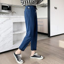 Casual pants Black, gray, dark blue, light blue XL,L,M Autumn 2020 Ninth pants Pencil pants High waist Other styles routine 25-29 years old 71% (inclusive) - 80% (inclusive) Other / other other belt cotton