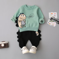 suit Le Nubi male spring and autumn Korean version Long sleeve + pants 2 pieces Plush No model Socket nothing Cartoon animation other children Expression of love Class A 3 months 6 months 12 months 9 months 18 months 2 years 3 years 4 years old Chinese Mainland Shandong Province