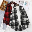 shirt Black and white check, red and black check S,M,L,XL Winter 2020 other 96% and above Long sleeves commute Regular Polo collar Single row multi button routine lattice 18-24 years old Straight cylinder Other / other Korean version BG201103-CS8173 pocket